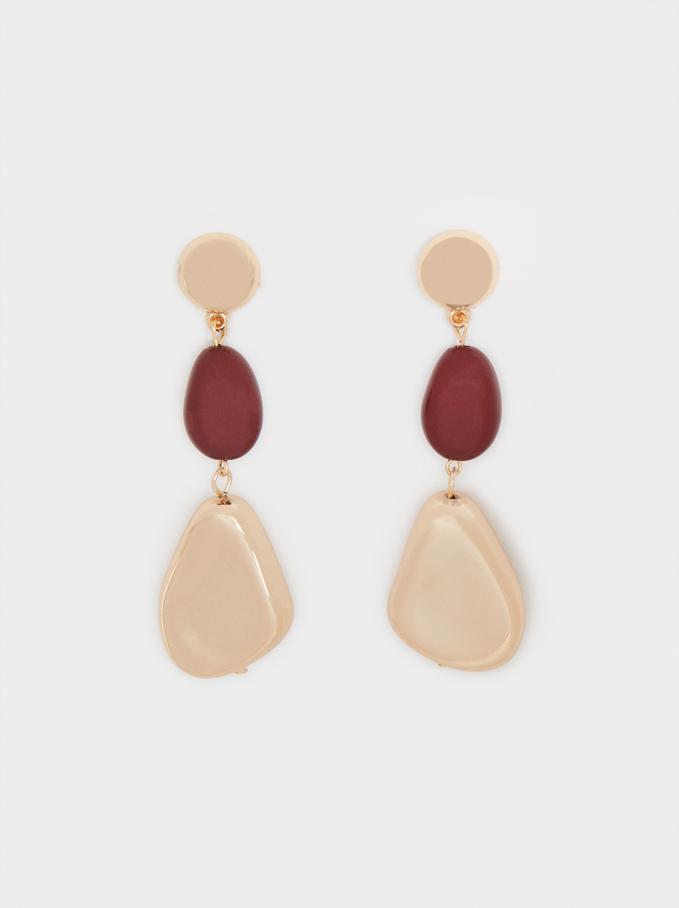 Long Bordeaux Earrings, Bordeaux, hi-res