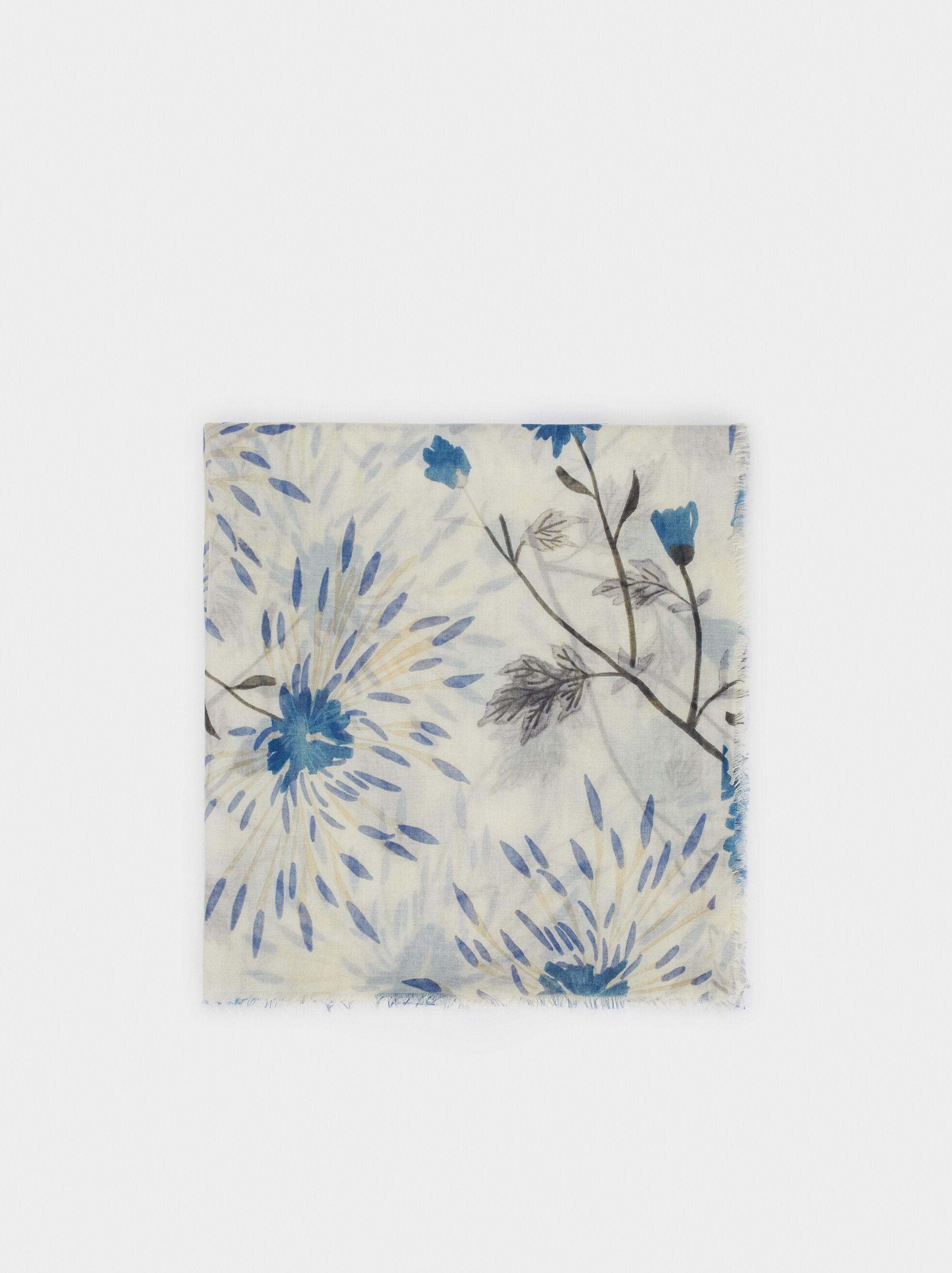 Floral Print Scarf, , hi-res