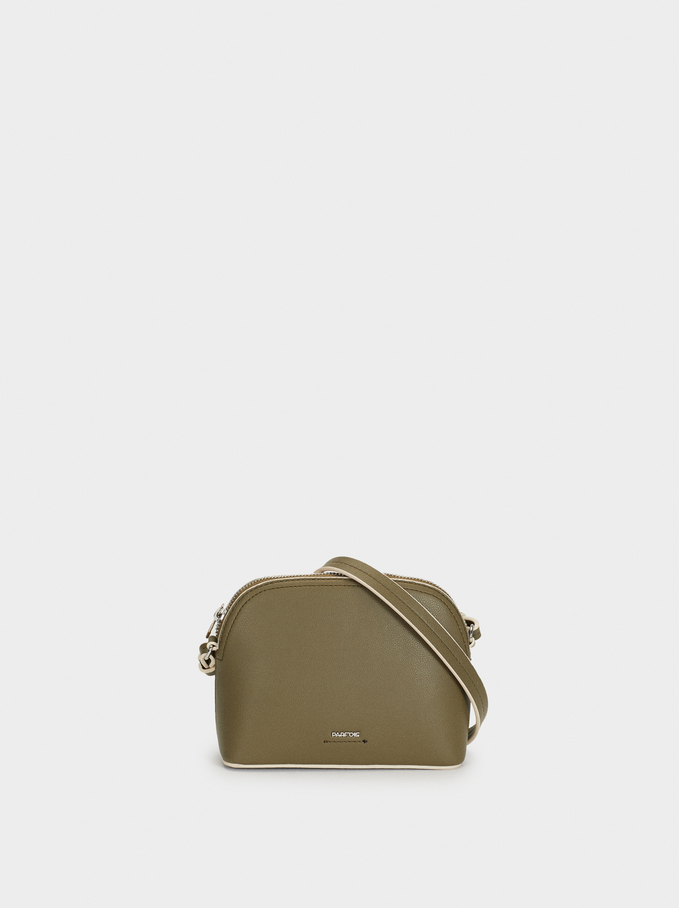 Shoulder Bag With Outer Pocket, Khaki, hi-res