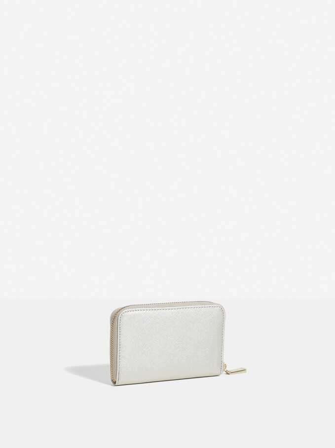 Basic Wallet, Silver, hi-res