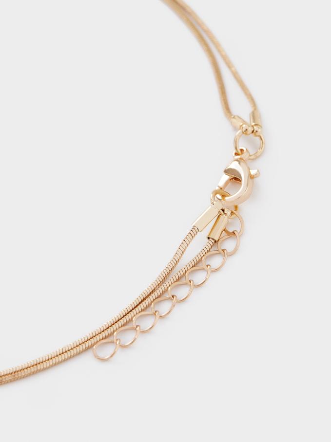 Long Golden Necklace, Golden, hi-res