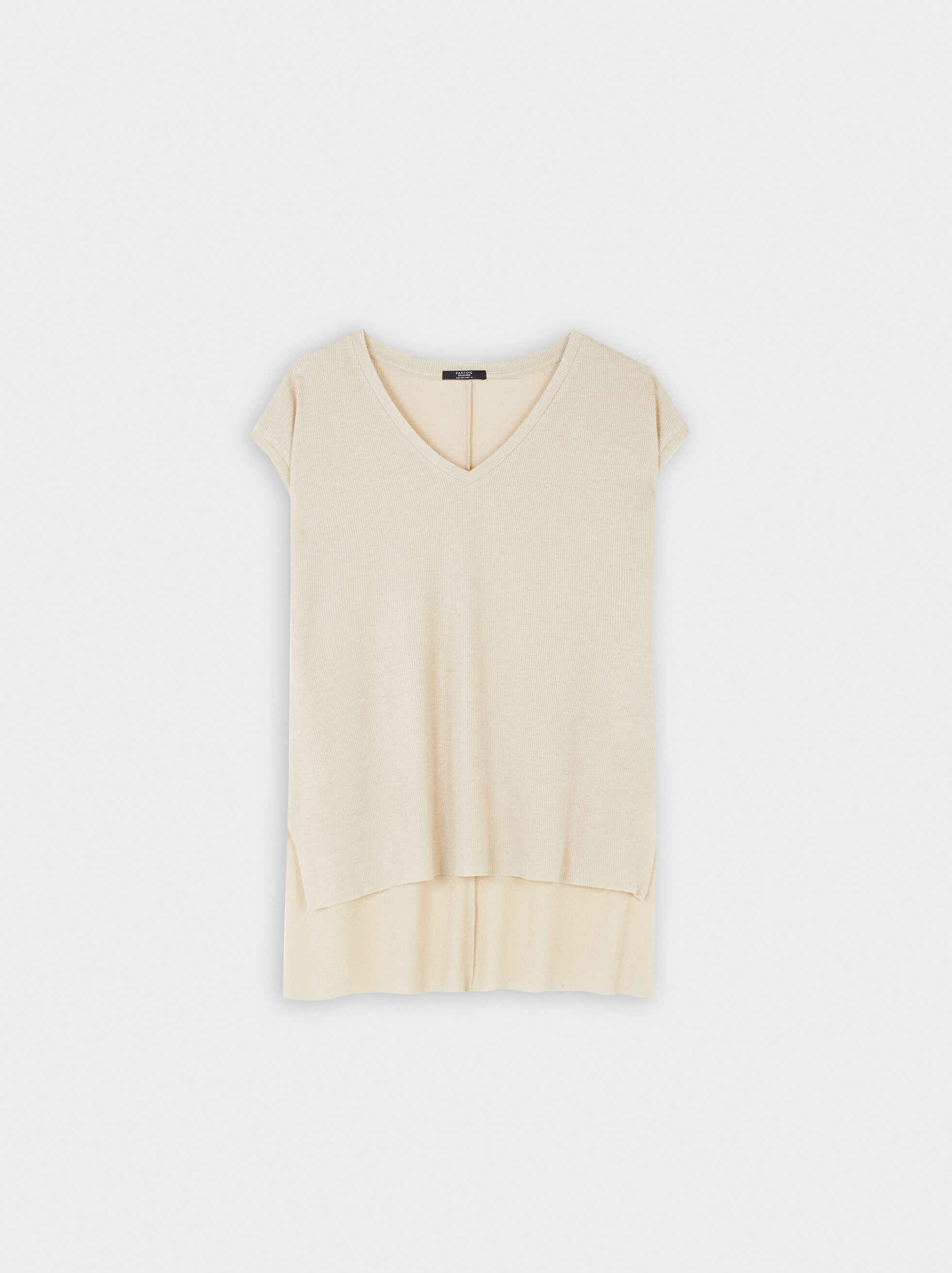 Sleeveless Top With A V-Neckline, , hi-res