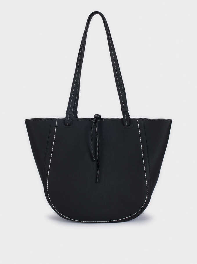 Tote Bag With Removable Inner Section, Black, hi-res