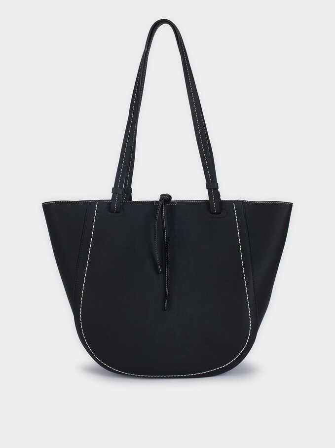 Bolso Shopper Con Interior Extraible, Negro, hi-res