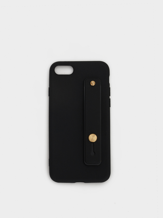 Plain Iphone 6/7/8 Case, Black, hi-res