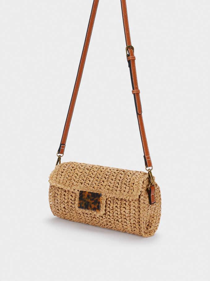 Braided Shoulder Bag, Beige, hi-res