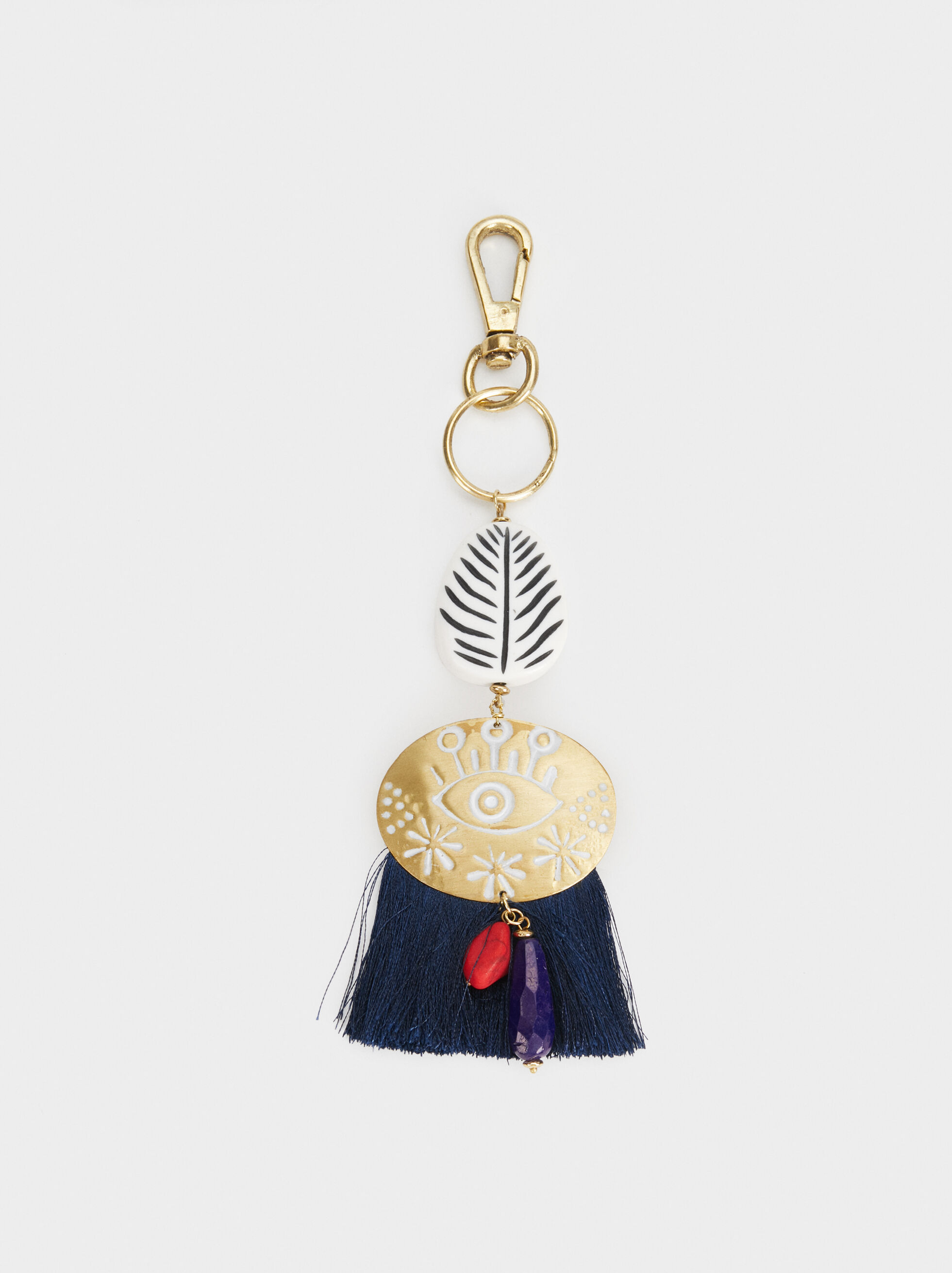 Fringed Key Chain, Multicolor, hi-res