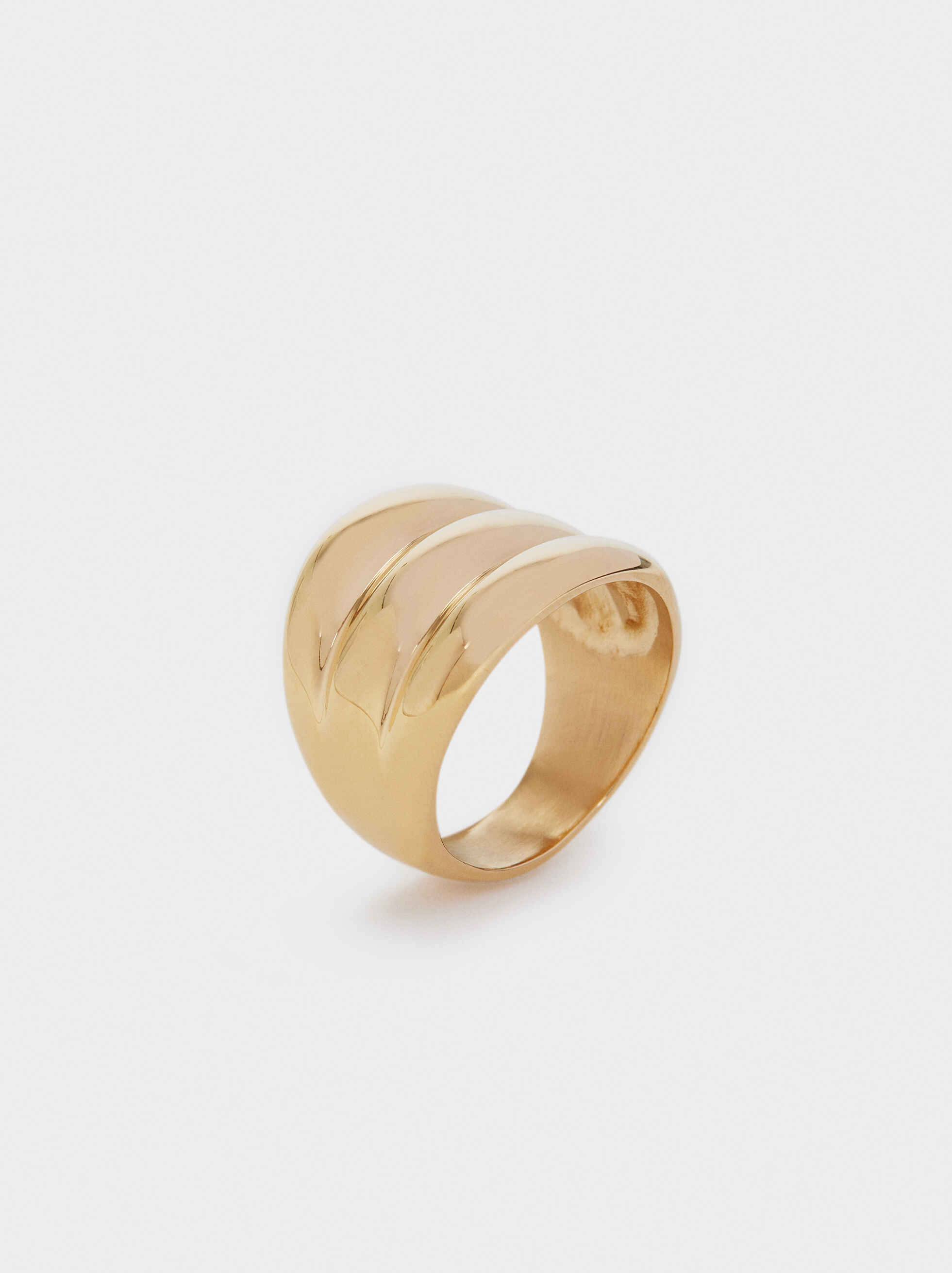 Three-Colour Stainless Steel Ring, , hi-res