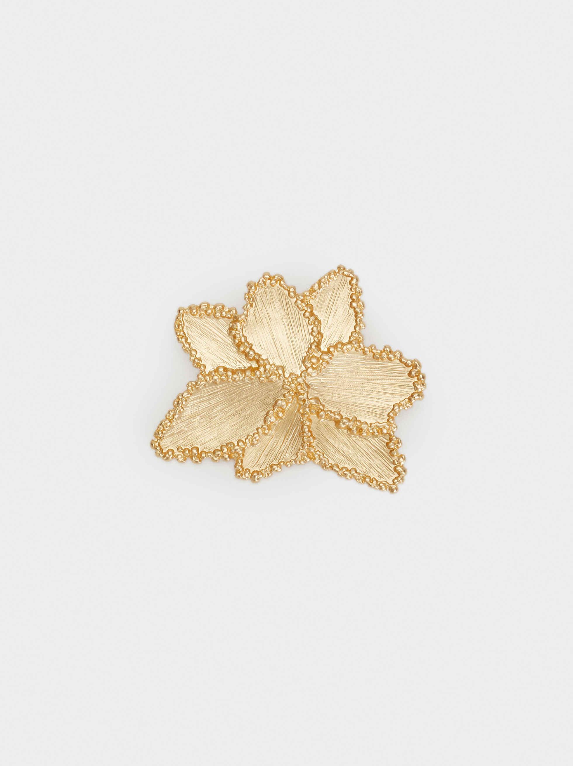 Exclusive Collection Brooch, Golden, hi-res