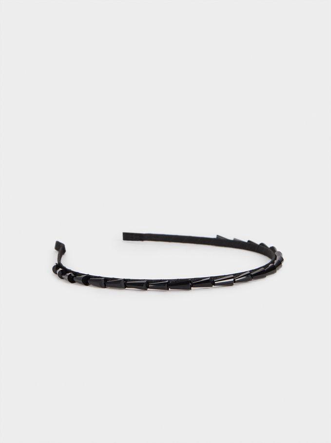 Thin Headband, Black, hi-res