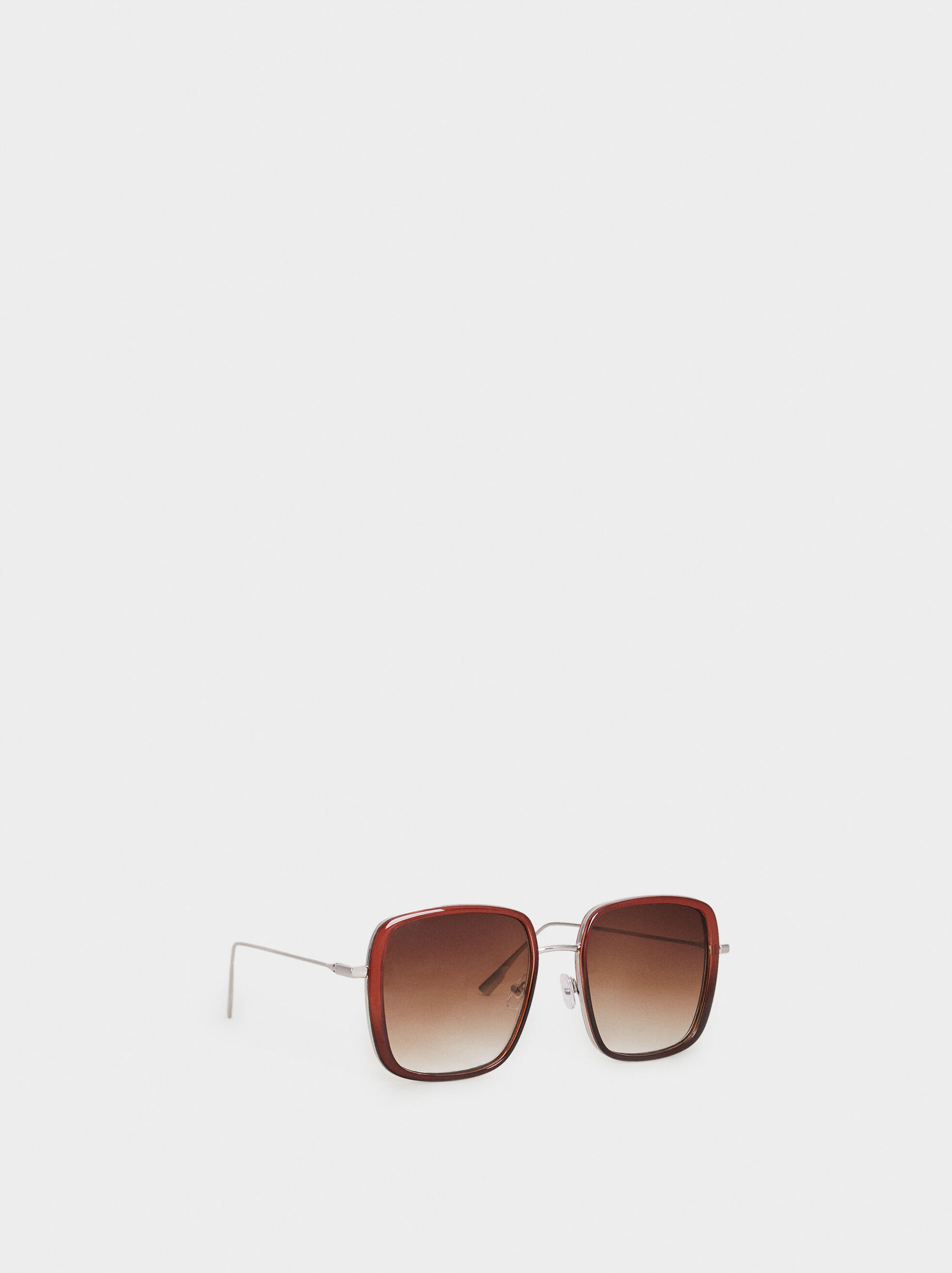 Square Sunglasses, Bordeaux, hi-res