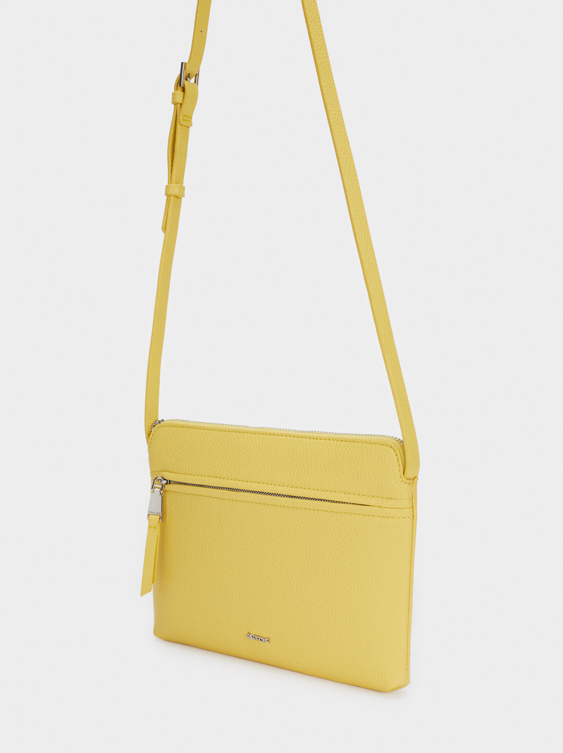 Crossbody Bag With Outer Pocket, Yellow, hi-res