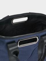 Nylon Tote Bag With Handle, Navy, hi-res