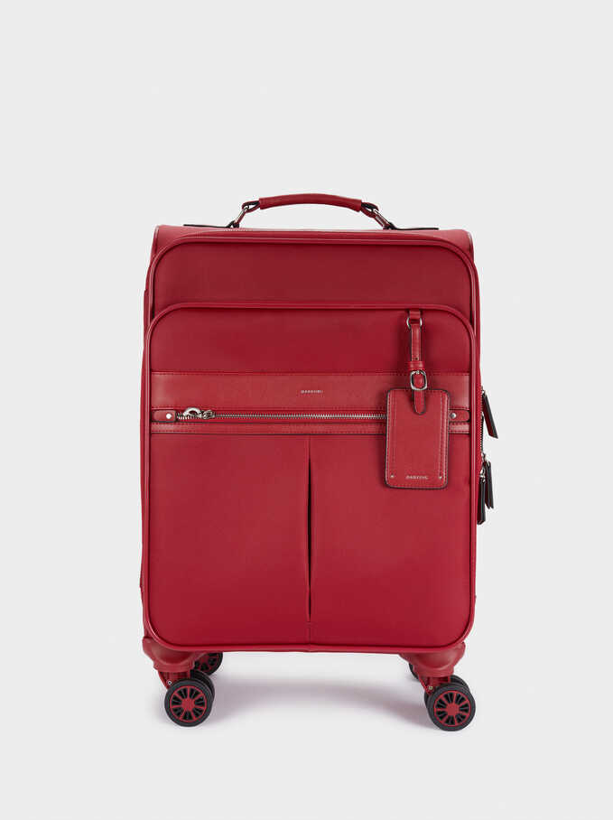 Nylon Suitcase, Red, hi-res