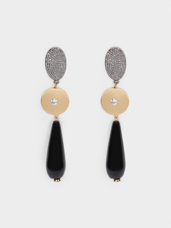Long Crystal Earrings, Multicolor, hi-res