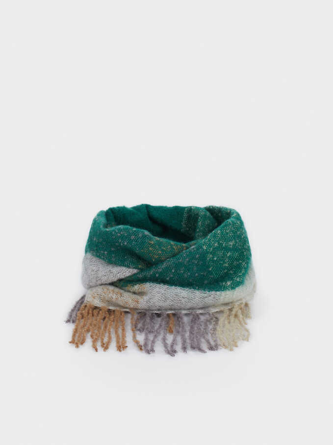 Two-Tone Snood, Green, hi-res