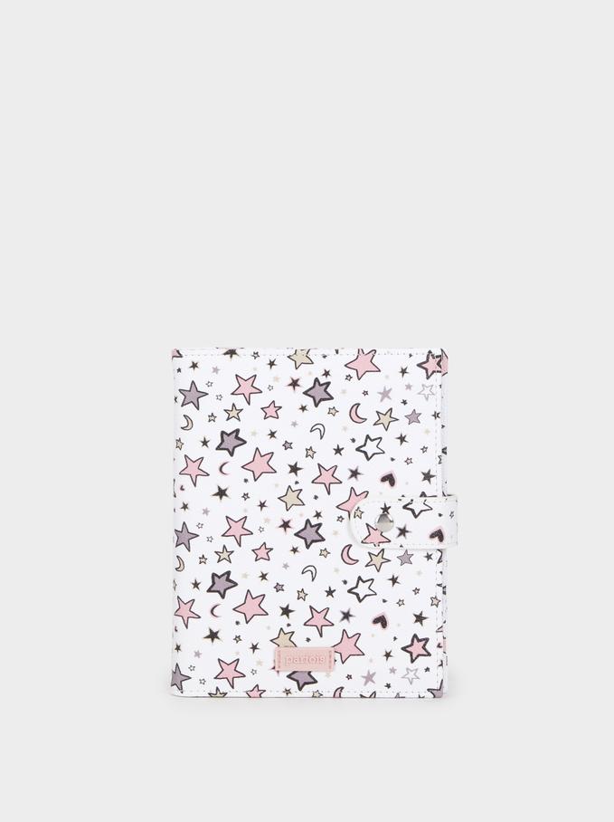 Star Print Diary, White, hi-res