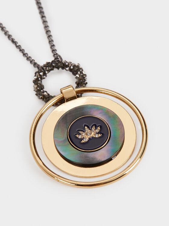Savage Sparkle Long Necklace, Blue, hi-res