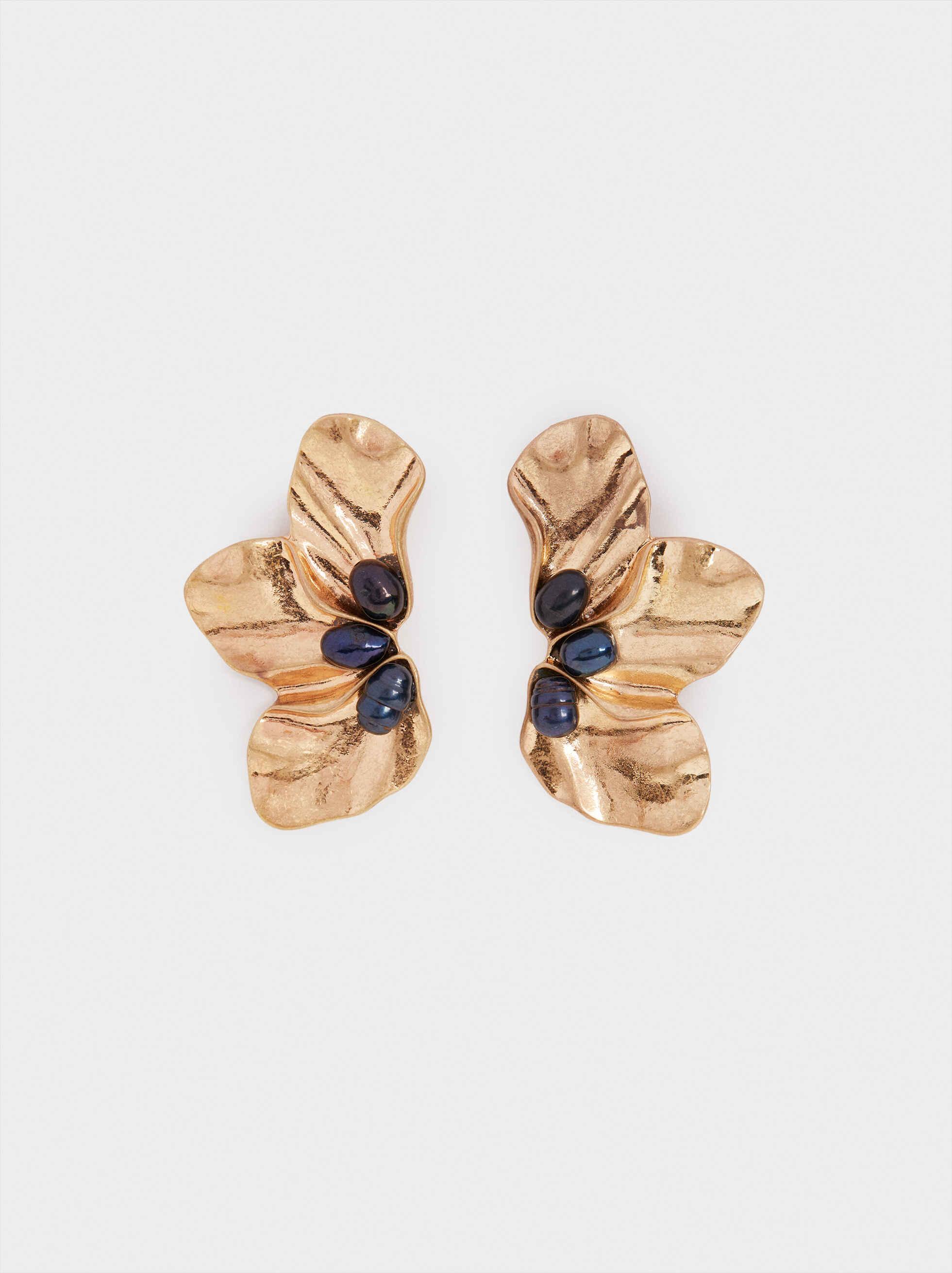 Watercolor Petals Stud Earrings, Multicolor, hi-res