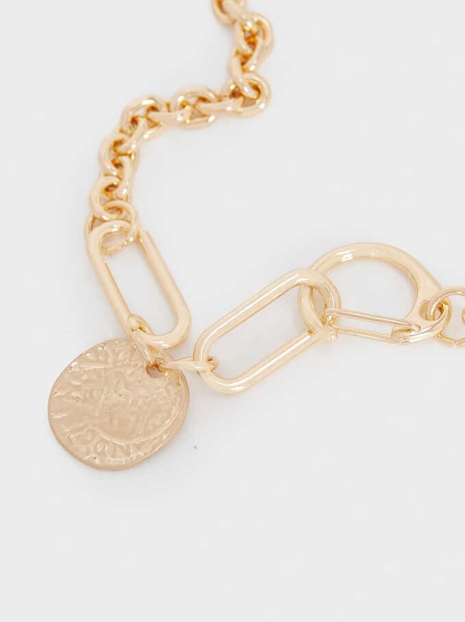Short Golden Necklace, Golden, hi-res