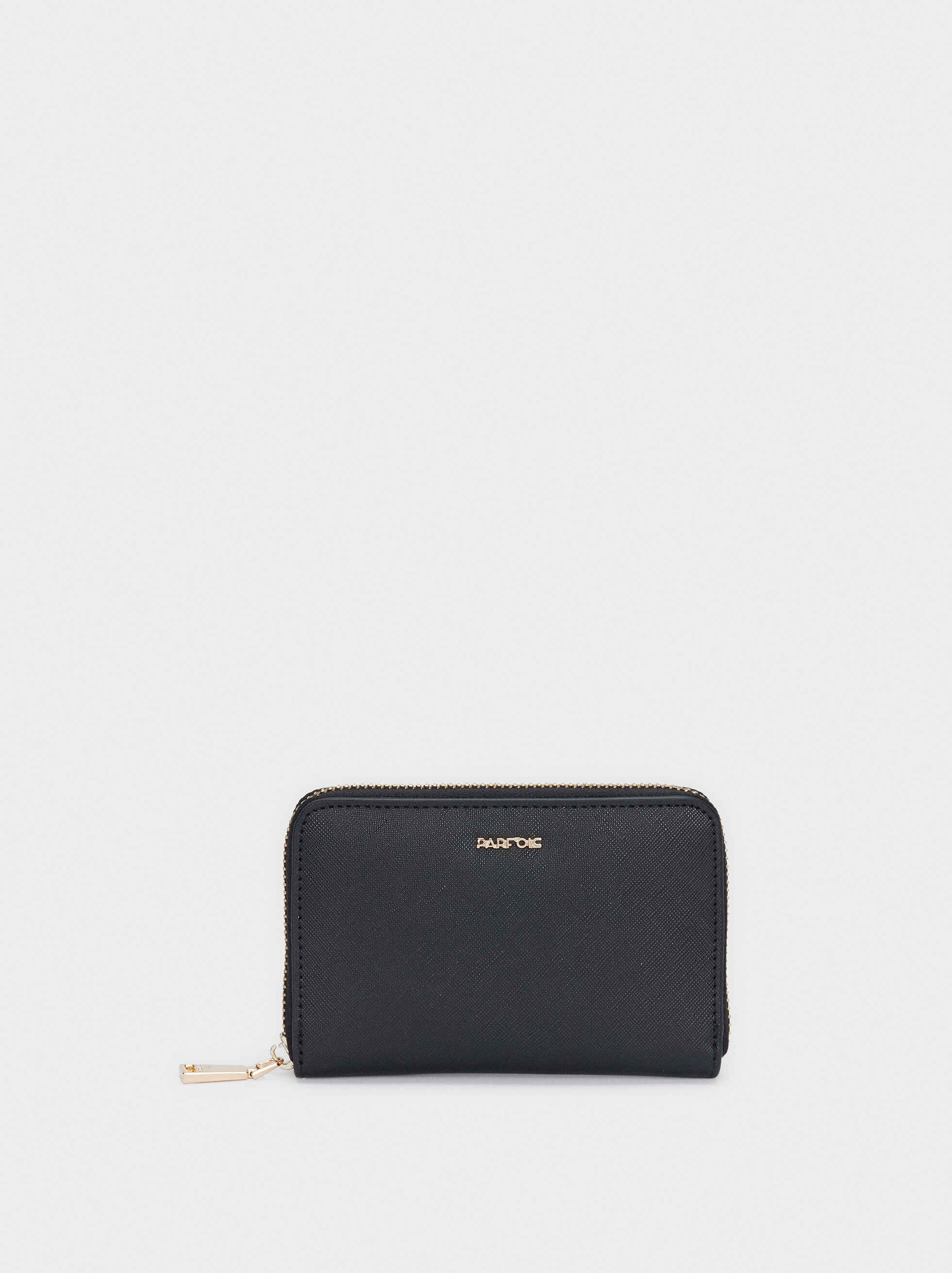 Zipped Purse, Black, hi-res