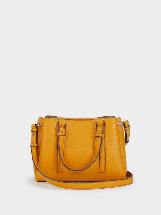Tote Bag With Shoulder Strap, Mustard, hi-res