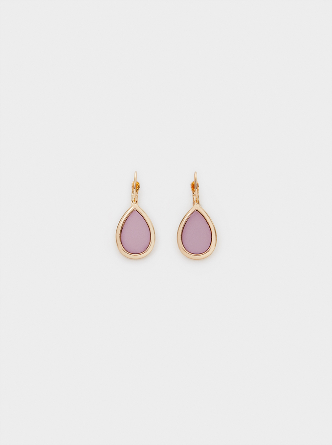 Watercolor Small Earrings , Violet, hi-res