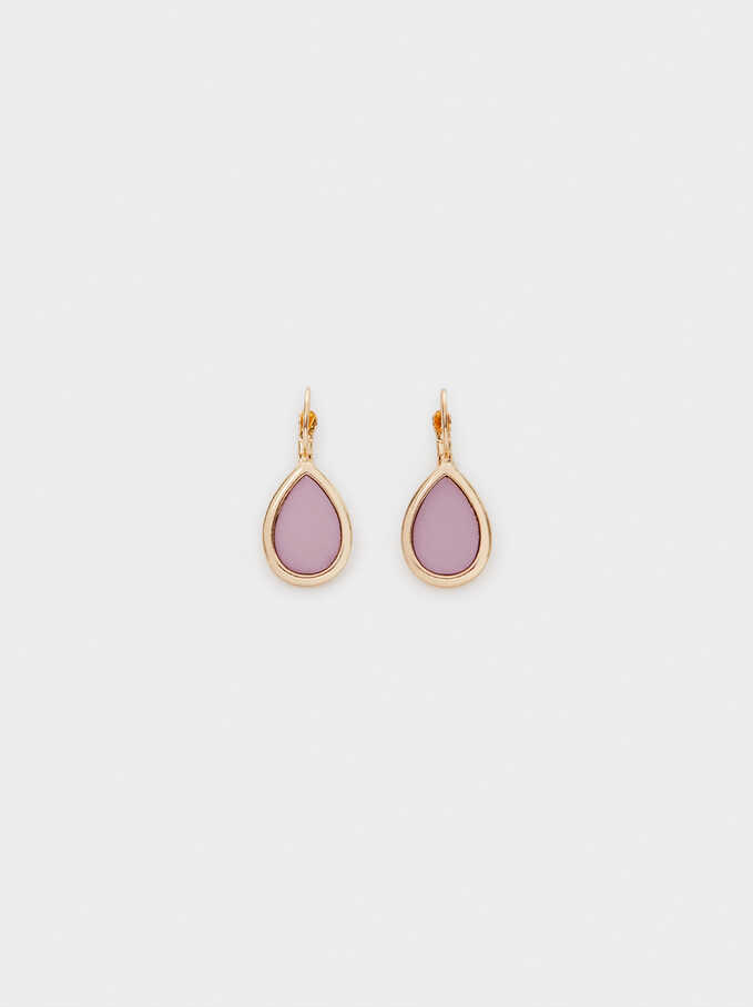 Watercolor Small Earrings , Violet, hi-res