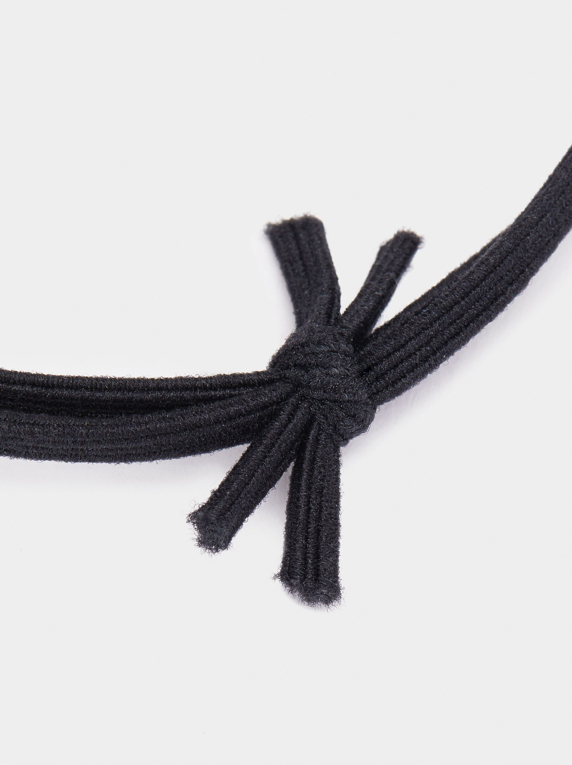 Hair Tie With Metal Appliqué, Black, hi-res