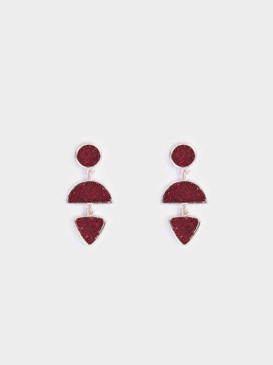 Rose Berry Medium Earrings, Bordeaux, hi-res