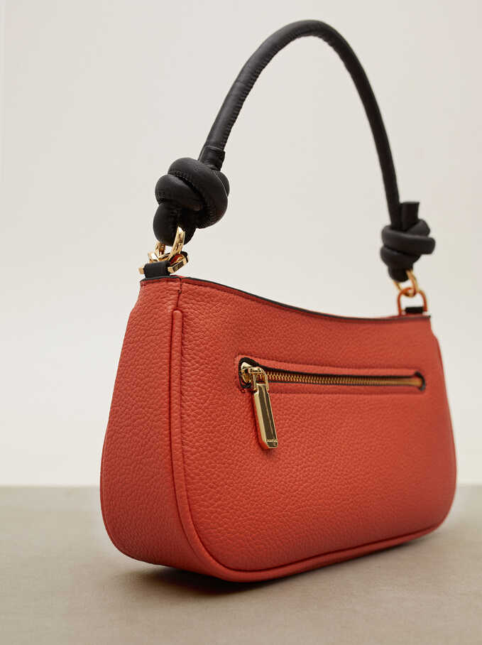 Crossbody Bag With Outer Pocket, Coral, hi-res