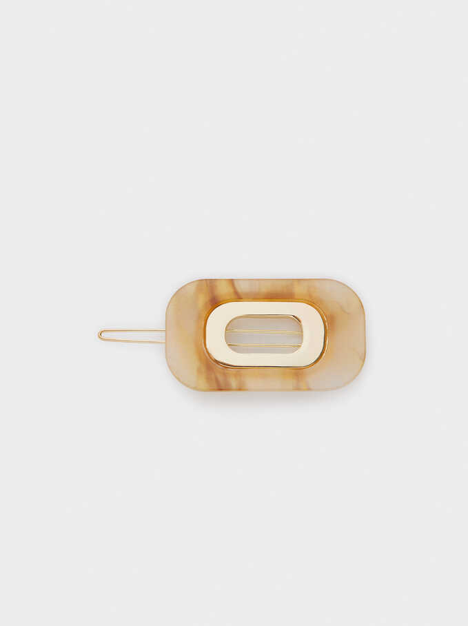 Mother-Of-Pearl Textured Hair Slide, Multicolor, hi-res