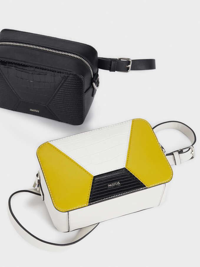 Patchwork Crossbody Bag, White, hi-res