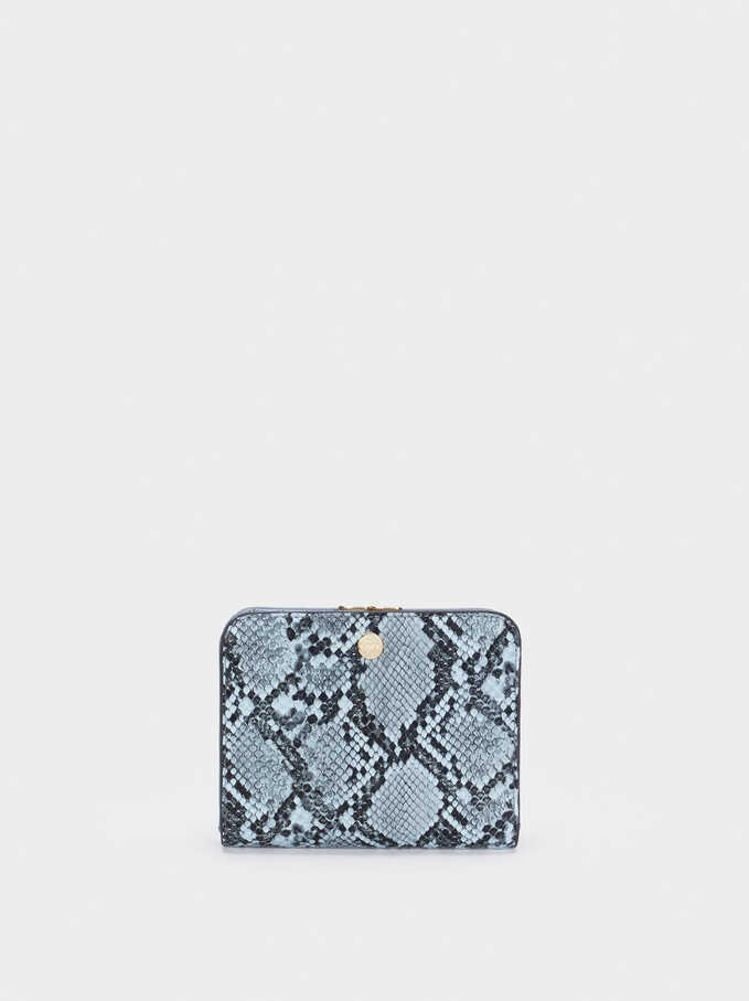 Animal Print Purse, Blue, hi-res