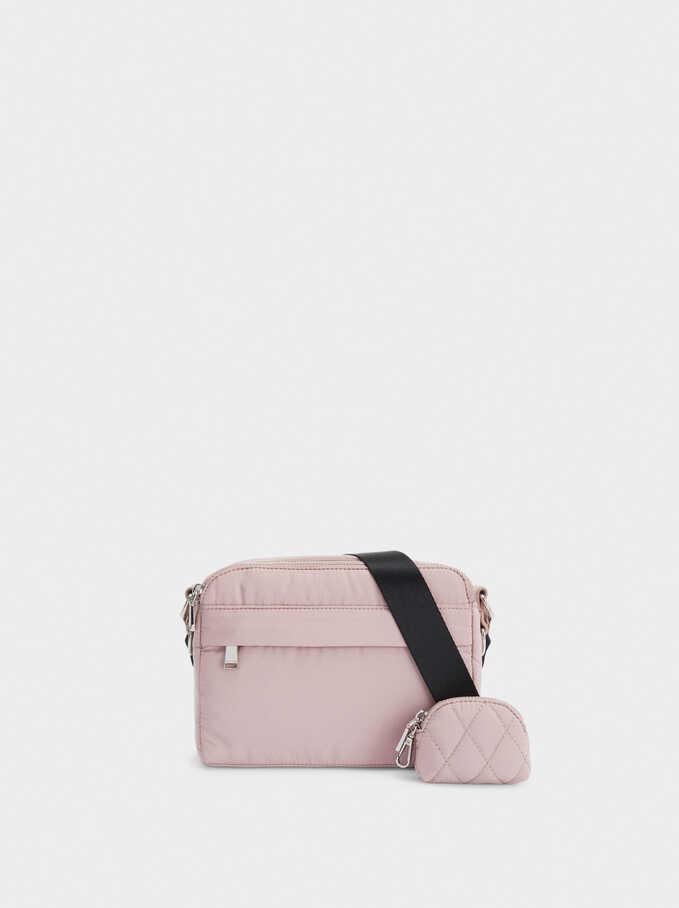 Nylon Crossbody Bag, Pink, hi-res