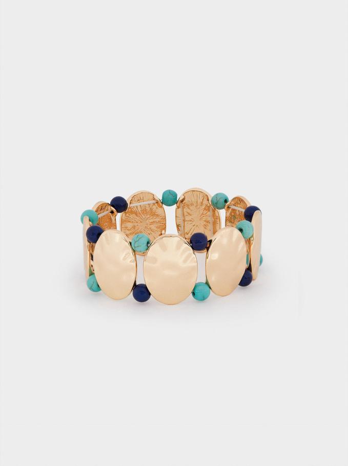 Geometric Elastic Bracelet, Blue, hi-res