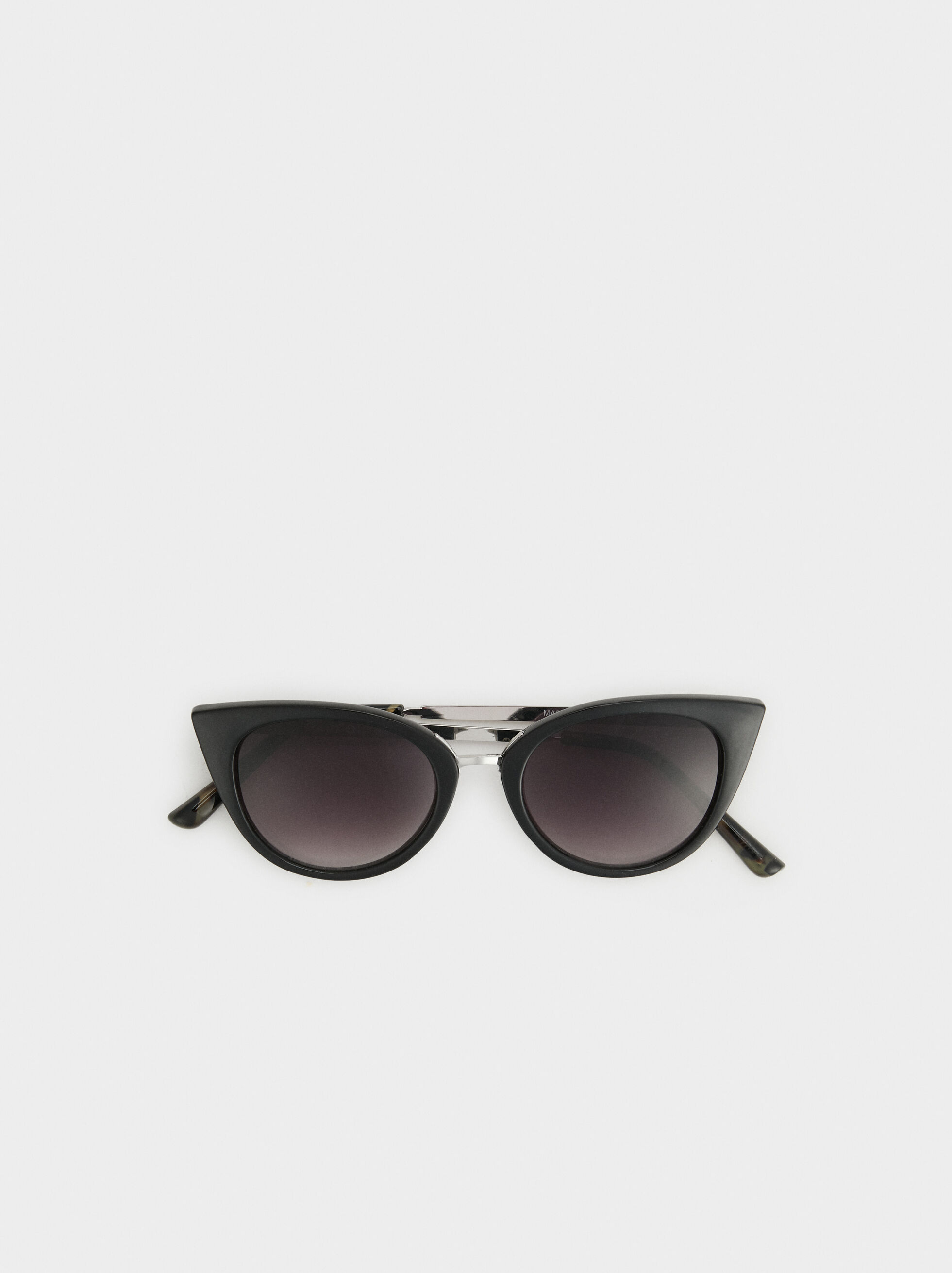 Cat Eye Sunglasses, Black, hi-res