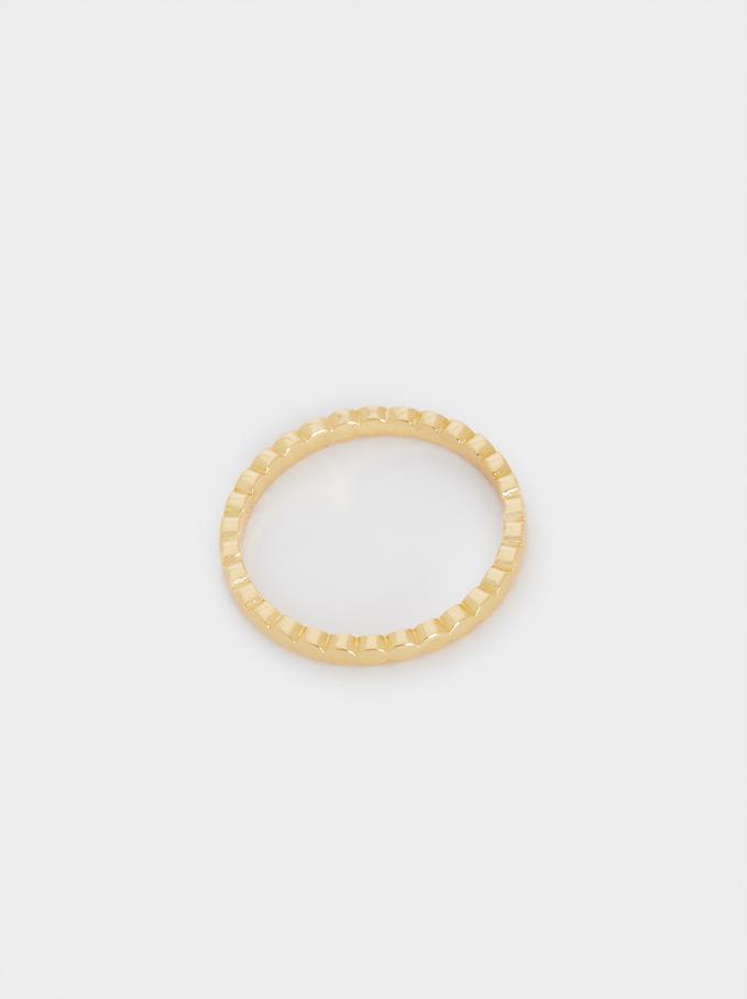 925 Silver Ring, Golden, hi-res