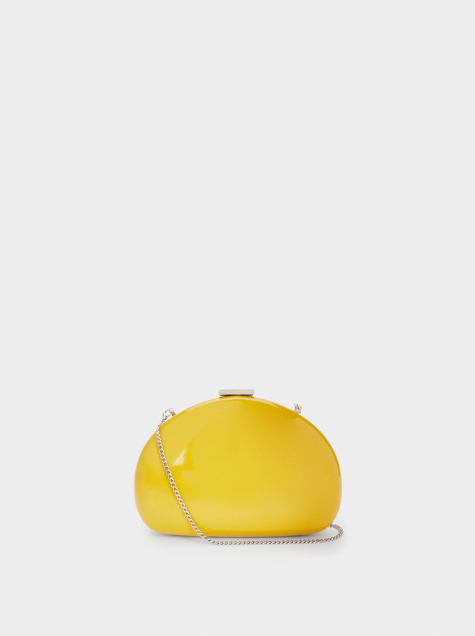 Party Patent Clutch, Yellow, hi-res