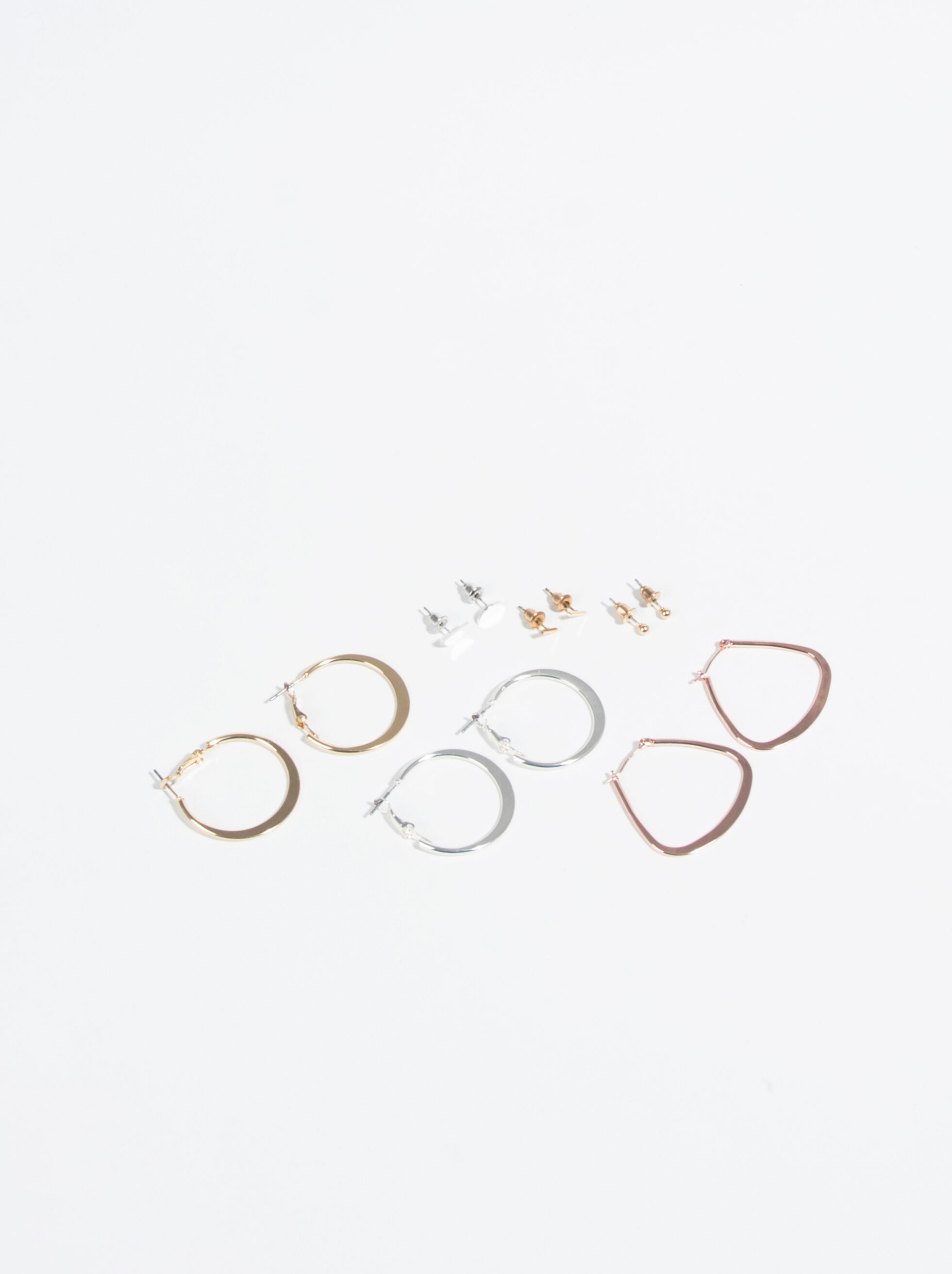 Basic Hoop-Earrings, Multicolor, hi-res