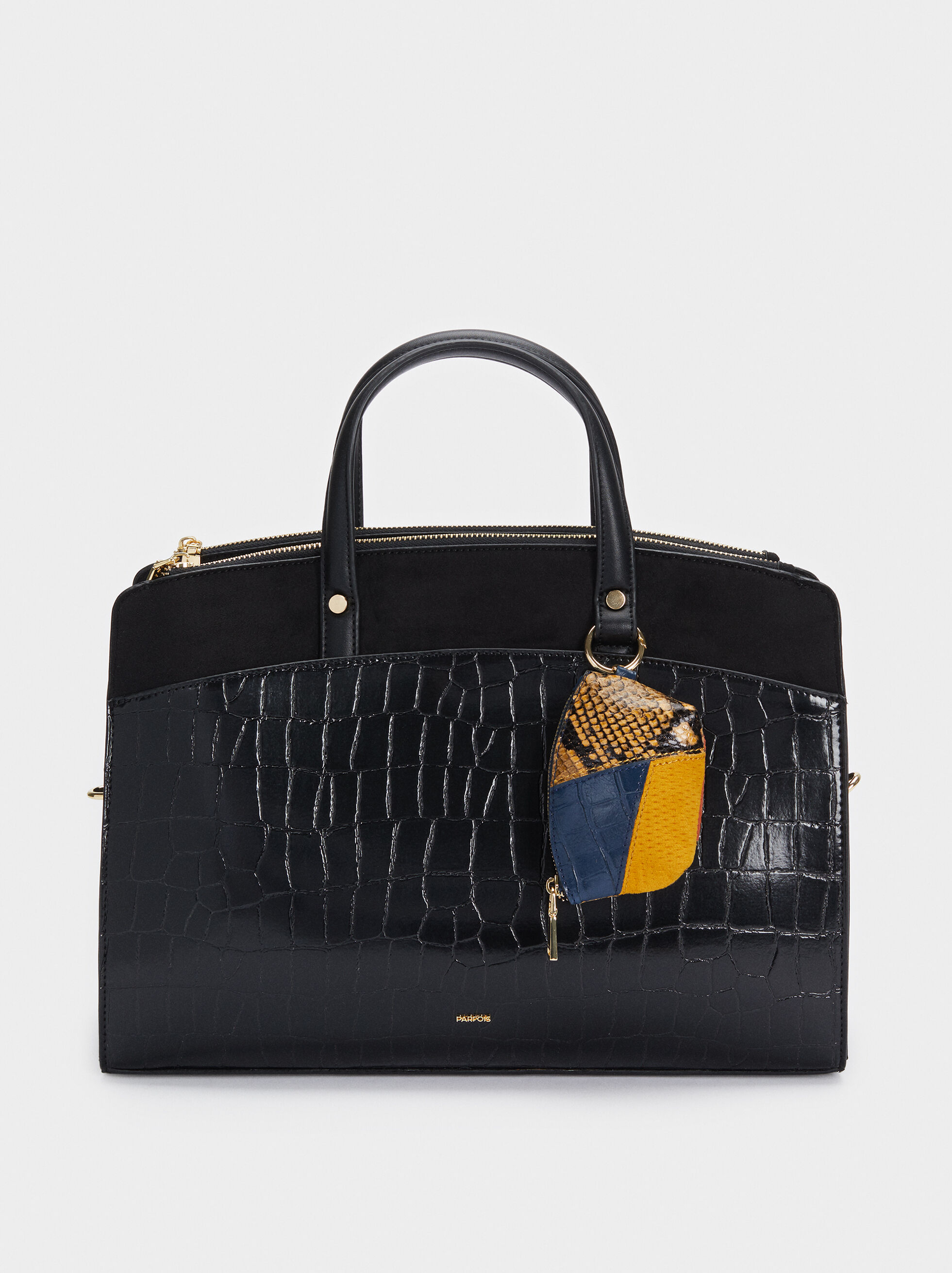 Briefcase With Animal Embossed Detail And Removable Shoulder Strap, , hi-res