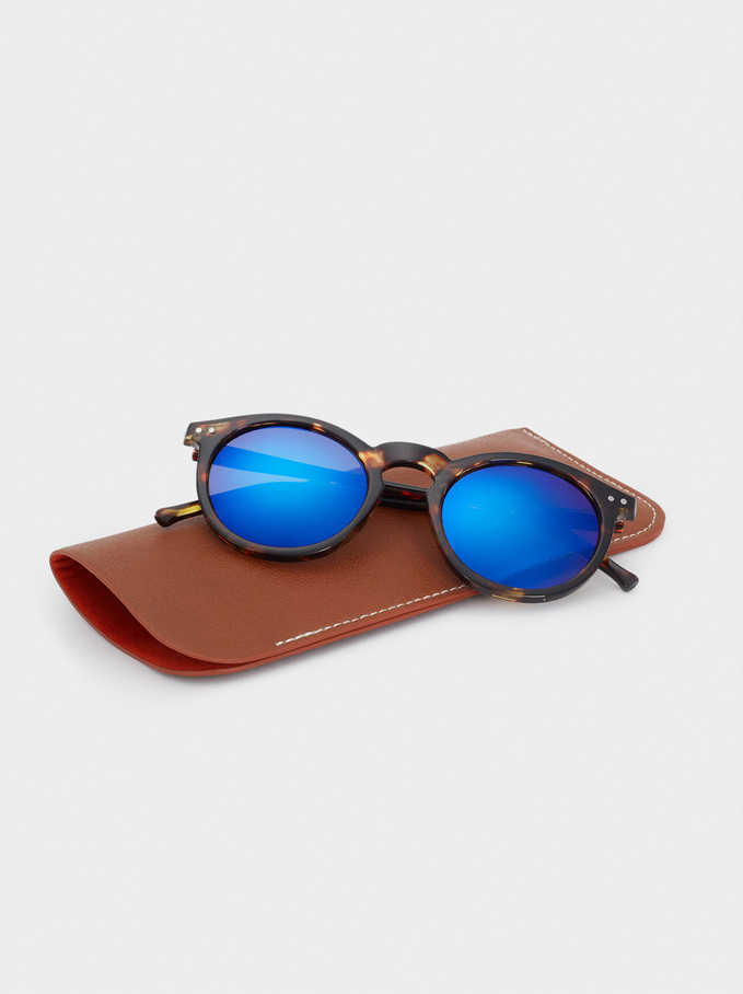 Sunglasses With Round Frames, Multicolor, hi-res