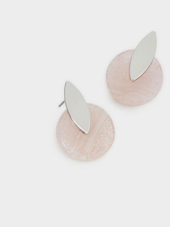 Cosmic Pink Stud Earrings, Multicolor, hi-res