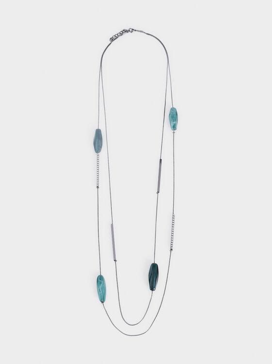Long Botanic Party Necklace, Multicolor, hi-res