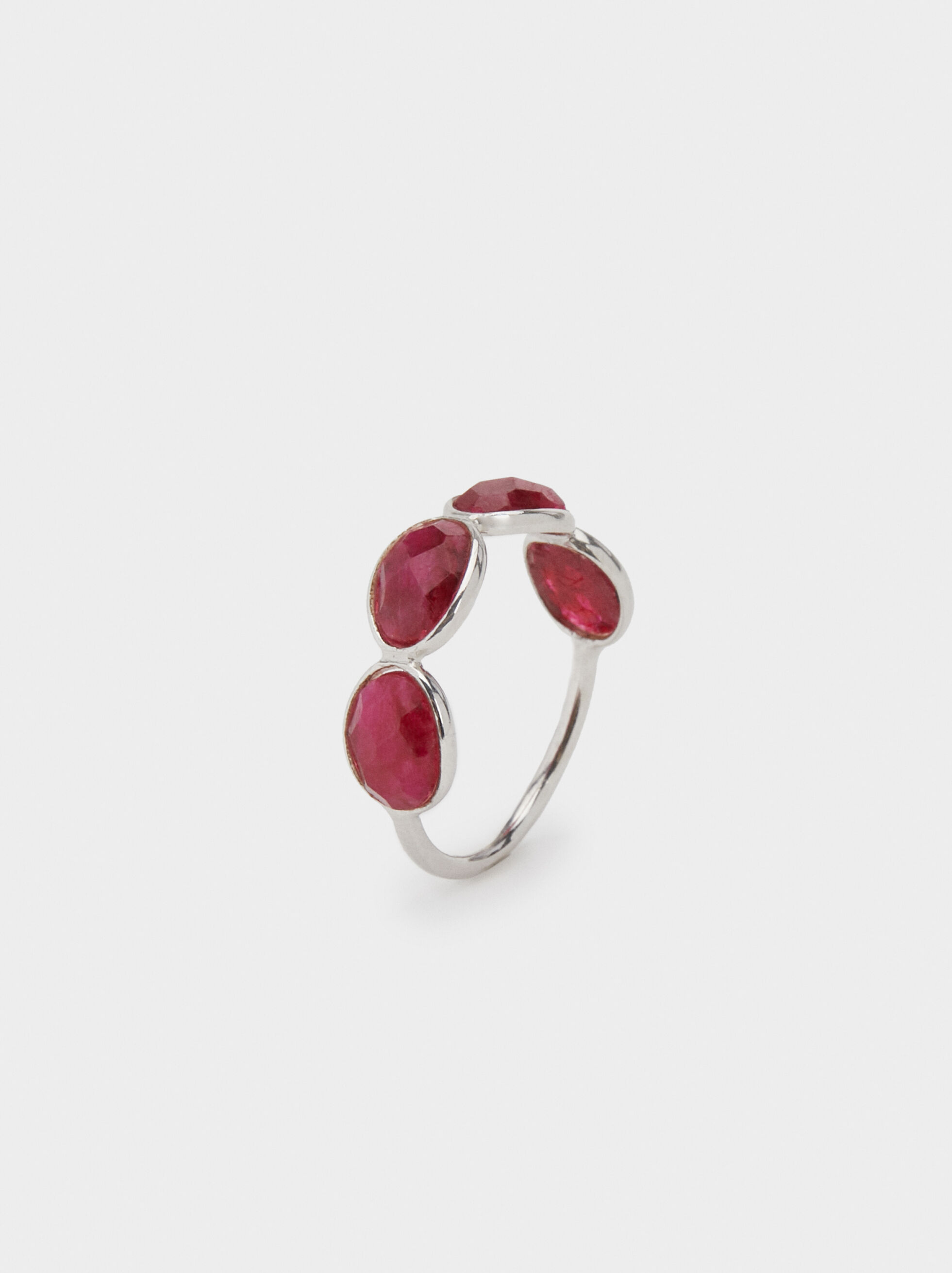 925 Silver Stone Ring, , hi-res