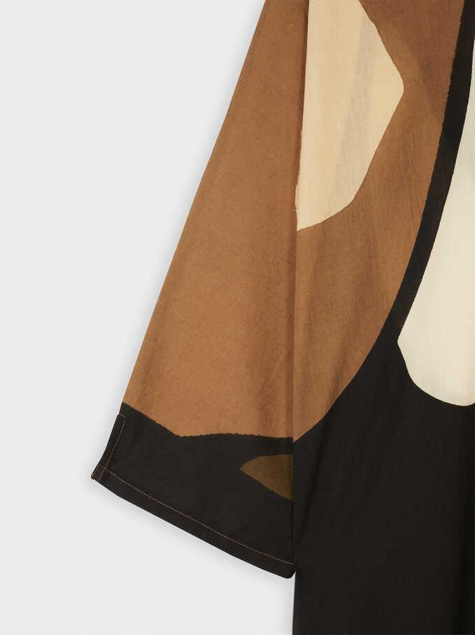 Multi-Coloured Print Shirt Dress, Multicolor, hi-res