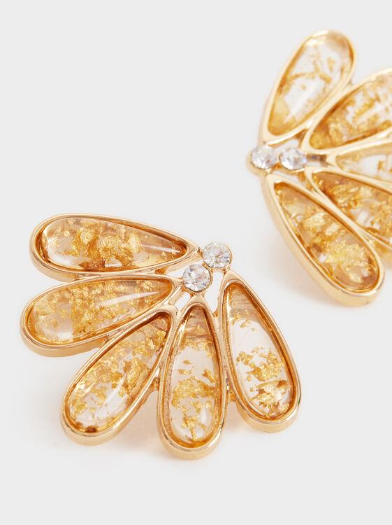 Exclusive Collection Short Earrings, Golden, hi-res