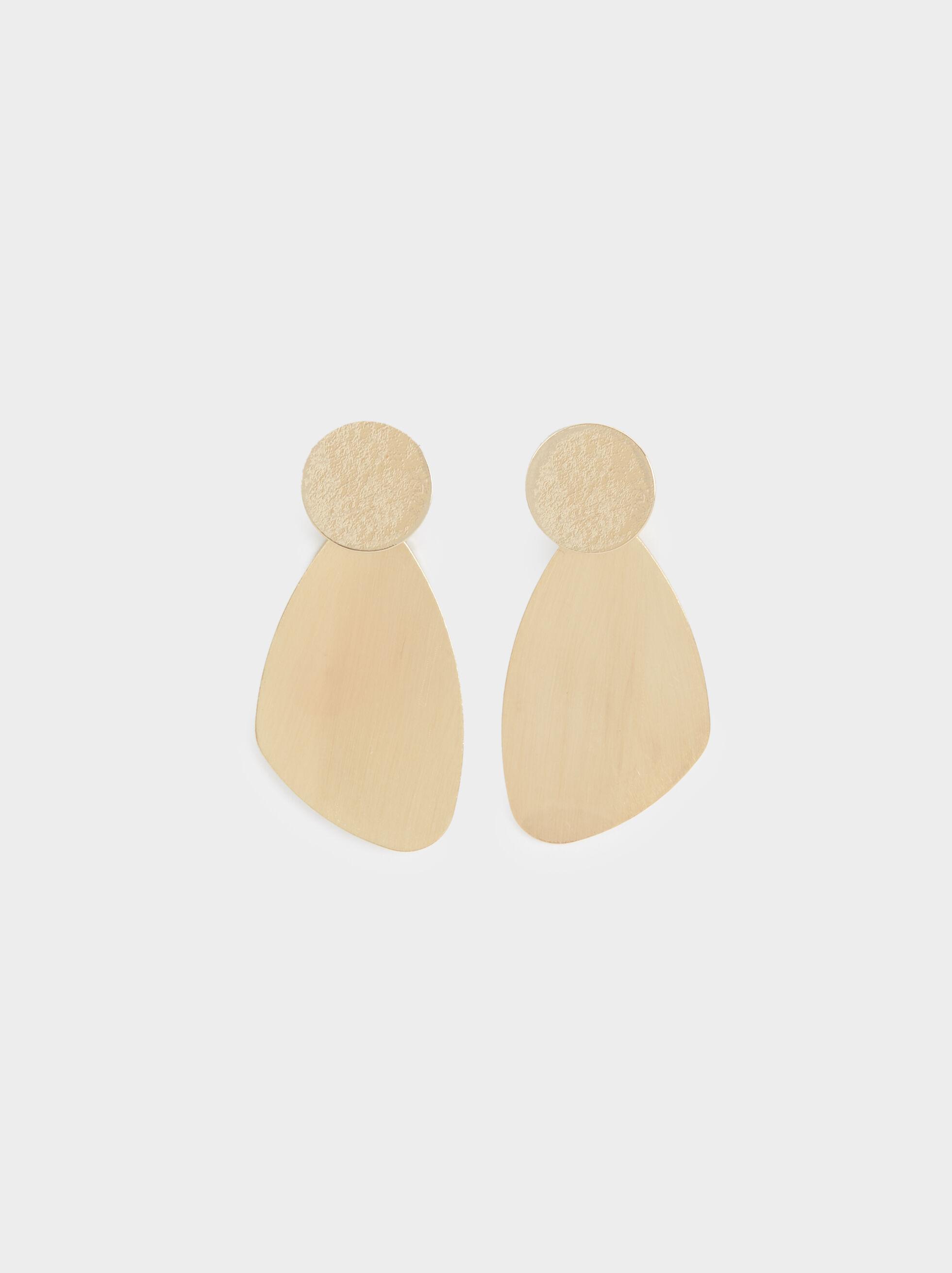 Geometric Long Earrings, , hi-res