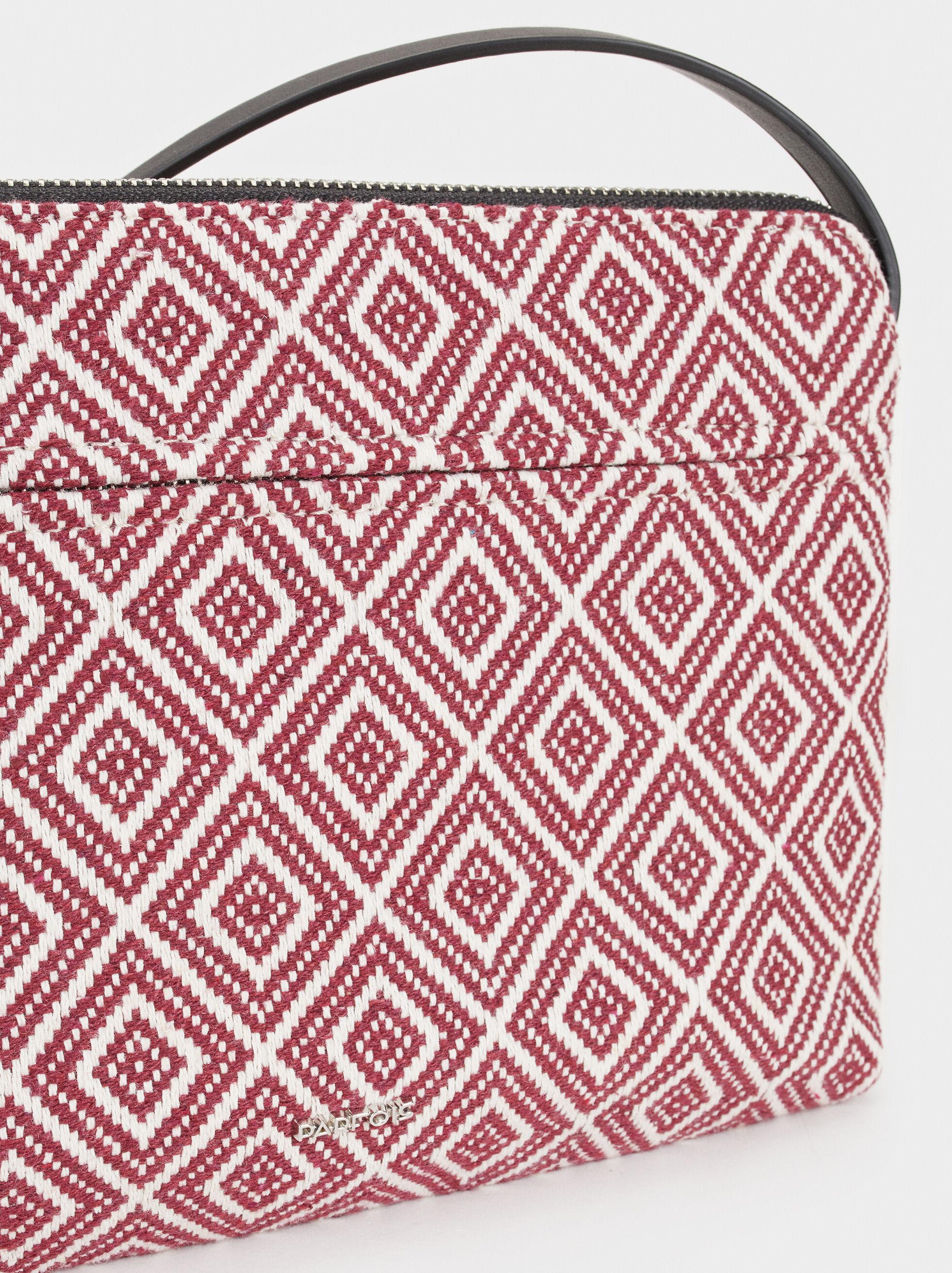 Geometric Print Crossbody Bag, Red, hi-res