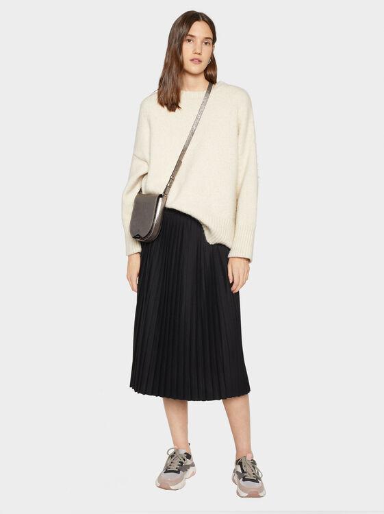 Plain Pleated Skirt, , hi-res